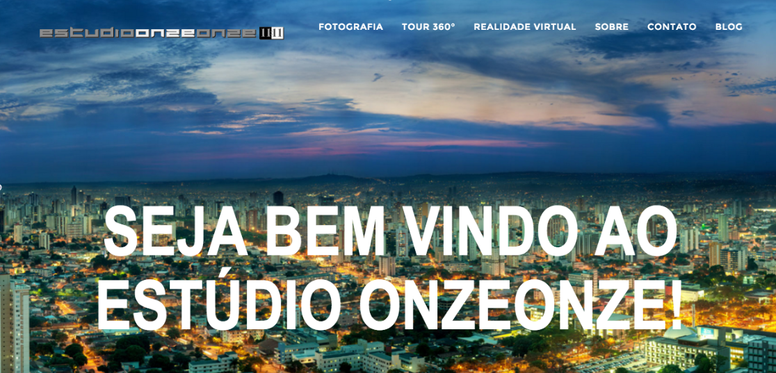 Tela do novo site